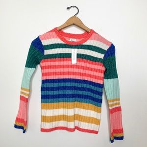 NWT Gymboree Colorful Kid Striped Pullover Sweater